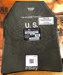 Jeu De Plaques Ballistic Armure Niveau III Sapi 7,62 Sizex-large 11x14