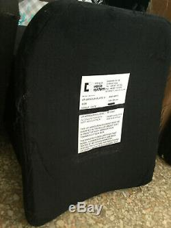 LVL III 10x12 Corps De Plaque Balistique Armure Balle Plaque Preuve Sapi Ultra-léger