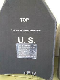 Lot De 2 Plaques Ballistic Armor + Porteur. Sapi 7,62 Protection. Taille Large