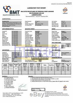 Militech Alumina Nij III + Niveau 3+ 6x6 Ballistic Dur Armure Set Panneau Latéral Paire