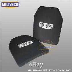 Militech Nij III ++++ Niveau 3 ++++ 10x12 Shooters Cut Panneau Armure Dur Ballistic