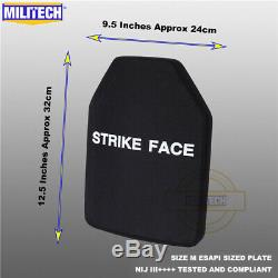 Militech Nij III ++++ Niveau 3 ++++ Esapi L Shooters Cut Panneau Armure Dur Ballistic