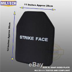 Militech Nij III ++++ Niveau 3 ++++ Esapi M Shooters Cut Panneau Armure Dur Ballistic