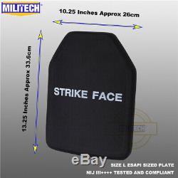 Militech Nij III ++++ Niveau 3 ++++ Esapi S Shooters Cut Panneau Armure Dur Ballistic