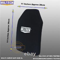 Militech Nij Iii+/nij 0101.07 Rf2 Plaque Anti-tambours Alumina&pe De La Taille S À XL
