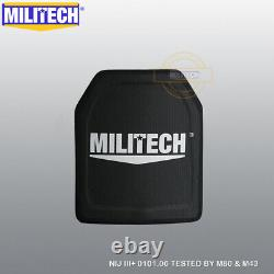 Militech Uhmwpe Nij 0101.06 Iii+ 10x12 Shooters Cut Ballistic Hard Armor Panel