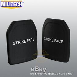 Militech Uhmwpe Nij 3+ 10x12 Shooters Cut Panel Armure Set Dur Ballistic Paire Sf