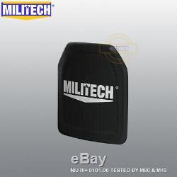 Militech Uhmwpe Nij III + 10x12 Shooters Cut Panneau Armure Dur Ballistic Paire Set