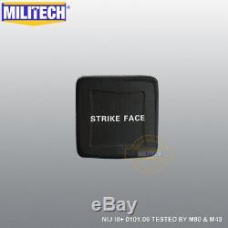 Militech Uhmwpe Nij Niveau 3+ III + 6x6 Bulletproof Dur Armure Set Panneau Latéral Paire