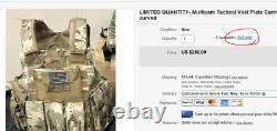 Multicam Tactical Vest Porte Plaque Avec Des Plaques- 2 10x12 Plaques Incurvées