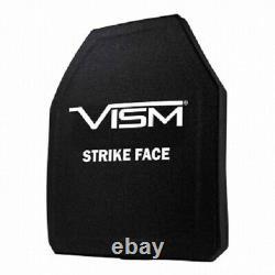 New Vism LVL Iii+ Srt Ceramic/pe Ballistic Plate 10x12 Str's Cut New