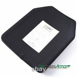 Nij Niveau III Sta Simple Curve Dur Armure Plate 10x12 Pouces Pied Uhmwpe Seul