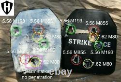 Niveau 3+++, Iii+++ Plaque Balistique, Armure De Corps 10x12 5,7 Lbs Avec Plaque Écaillée