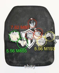 Niveau 3+, Iii+ Plaque Balistique, Armure Du Corps 10x12 Laboratoire Testé, Avec Plaque Écaillée