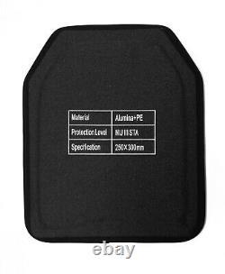 Niveau 3+ Iii+ Plaque Balistique Autonome, Armure 10x12 4.6 Lbs Céramique