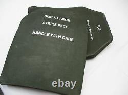 Niveau Des Inserts De L'armeur Des Organes X-large 3 Plates Céramiques De La Face De La Strike 11x14 Front & Back