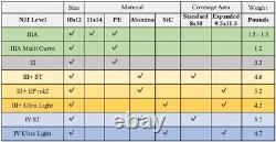 Niveau III +, 3+ Gilet Pare-balles, Plaque Balistique 10x12 5,2 Lb Multi Curve
