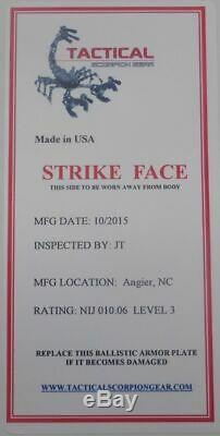 Niveau III Ar500 Corps En Acier Armure Paire 11x14 Plaque Incurvée Pleine Frag Revêtement