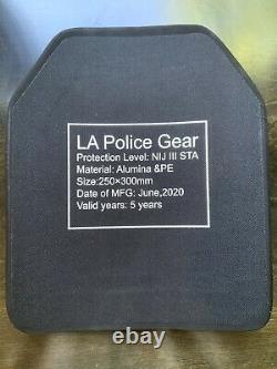 Niveau III Assortiment De Blindage De Corps En Céramique, Équipement De Police La 10x12