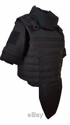 Niveau III Corps Gilet Armure, Couleur Noir Taille XXXL Avec Des Inserts Dans Le Col Et L'aine