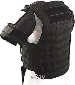 Niveau III Plate Body Armor Porteur Gilet Molle, Taille XXL Couleur Noir