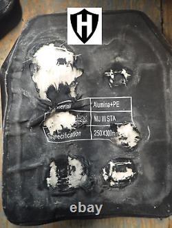 Niveau Iii+ Plaque Balistique À L'épreuve Des Balles, Laboratoire D'armure Du Corps Testé Et Tailles Vidéo