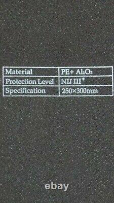 Niveau LLL 3 Ar500 Body Armor XL M 2xl 3xl Gilet Pare-balles Inserts Souples Gratuits 3a