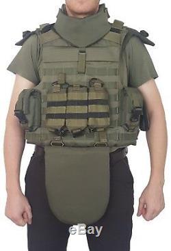 Nouveau Jeu De Vitesse Armure Full Body Veste Tactique 3 E Année Prot. + Éléments De Balles