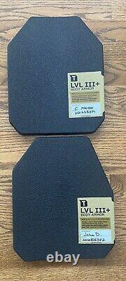 Nouveau Porte-plaques D'armement Tacticon Avec (2) Niveau 3+ 10 X 12 Plaques & Poches Mag