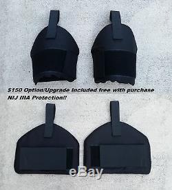 Nouveau Système De Gilet Pare-balles Ultra Léger Swat (m-l) Nij Iii-a Avec Protège-cuisses