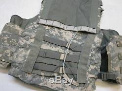 Nwot Gilet Pare-balles Numérique Plate Camo Porte-iii Un Niveau Petit Body Armor