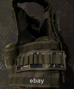 Olive Drab/camo Ballistic Vest Plate Transporteur Niveau 3+ Plaques Mag Pouches
