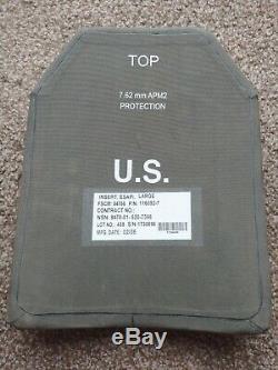 Paire De 2 Grandes Armure De Corps 10x13 Esapi Courbe De Niveau III + Plaques