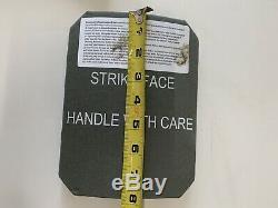 Paire De 2 Moyenne 9,5 X 12 Plaques De Blindage Corporel Courbes Niveau III + Et 2 Plaques Latérales