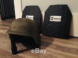 Paire De Niveau III Ar500 Armure En Acier Courbé Asc 10 X 12 Plaques (par Ar500 Armor)