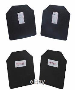 Paire De Scorpions Niveau III Ar500 Protection Corporelle En Acier Deux Plaques 11 X 14 + Coussins De Traumatologie