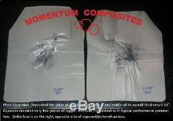 Panneau Rigide Uhmwpe Balistique, Armure De Carrosserie LVL 3 Pour Sapi Cut 10x12x1 (deux Plaques)
