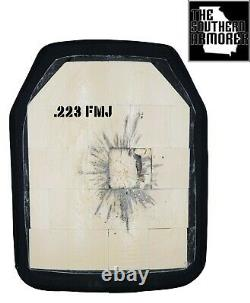 Plaque Balistique D'armure De Niveau III 10 X 12 4.7 Lbs Poids Léger 3 Tsa Marque