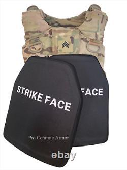 Plaque D'armure De Corps En Céramique Autonome Niveau Iii++ Plus Poids Léger