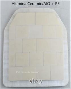 Plaque En Céramique Body Armor Niveau IV 12''x10''x0.8 Taille Moyenne