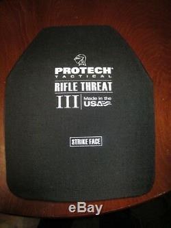 Plaque Tactique Protech Menace Pour Fusil Pro-tech Niveau III 3 Taille Large 10 X 12