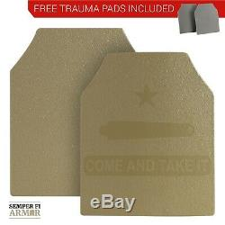 Plaques Armure Du Corps Ar500 Deux 10x12s Dans Options Side Plate Tan Federal Standard