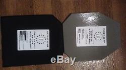 Plaques En Acier Pour Blindage De Carrosserie Patriot Ar600 (2) Avec Coussinets De Traumatologie (2) Niveau III + Atp 10x12