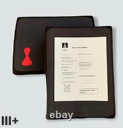 Plaques Latérales Pare-balles Niveau Iii+ Pawn Armor 8x6 Single Curve Pe & Ceramic Pair