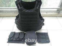 Porte-gilets Black Combat Tactical + Plaques De Céramique 2pcs III