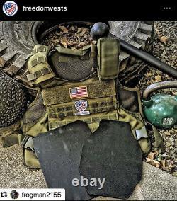 Porte-plaque Ar500 Vert 10x14 Niveau III Armure Du Corps Bullet Vest