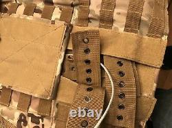 Porte-plaques Multicam Tactical Vest Avec Plaques- 2 Plaques Courbes 10x12