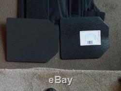 Porte-vest M-2xl + 2-10x12 Niveau Courbe 3 Plaques 2 Gratuit 10mm Trauma Pads Nouveau