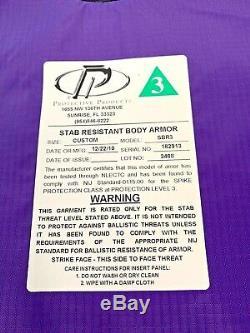 Produits De Protection De Niveau 3 Stab Résistant Body Armor Avec Plaque Bullet Proof M-xl