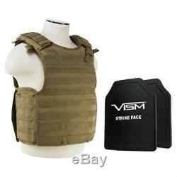 Qr Plaque Support W Niveau III + Plus Dur Pe Shooters Cut Ballistic Bulletproof